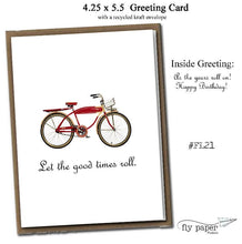 Load image into Gallery viewer, Let the good times roll. Classic Linen Series Greeting Card- Birthday Card