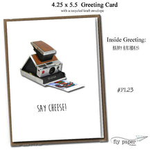 Load image into Gallery viewer, Say cheese! Classic Linen Series Greeting Card- Birthday Card