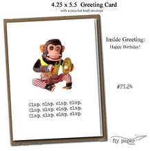 Load image into Gallery viewer, Clap, clap, clap, clap. Classic Linen Series Greeting Card- Birthday Card