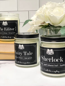 Sherlock - Citrus + Aged Tobacco Leaf + Leather - 9oz Glass Soy Candle