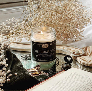 The Romantic 9oz Soy Candle - Peach + Orange + Vetiver