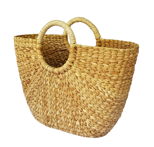NEREY Seagrass Bag Natural Rounded