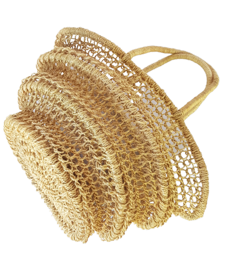 NEREY Abaca Collapsible Bag Natural