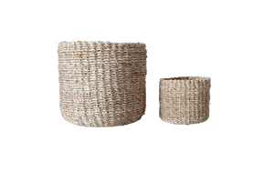 Abaca Round Basket PLAIN Natural