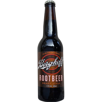 Bergoff's Root Beer Glass Bottle