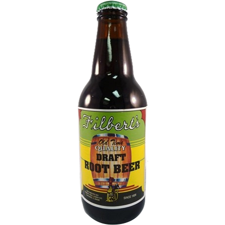 Filberts Root Beer Glass Bottle