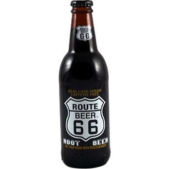 Route 66 Root Beer Glass Bottle