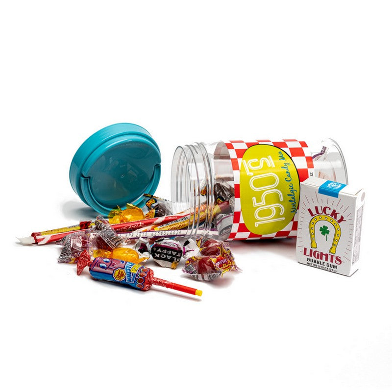 50's Decade Candy Gift Jar