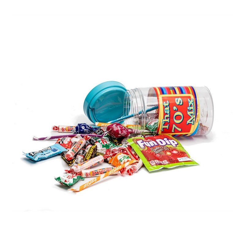 70's Decade Candy Gift Jar