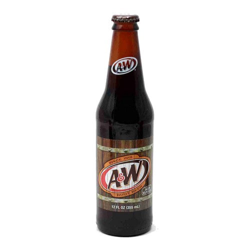 A&W Root Beer Glass Bottled SOda