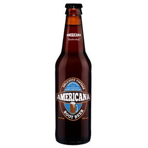 AMERICANA ROOT BEER GLASS BOTTLE SODA