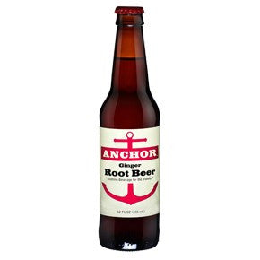 ANCHOR GINGER ROOT BEER GLASS BOTTLE SODA