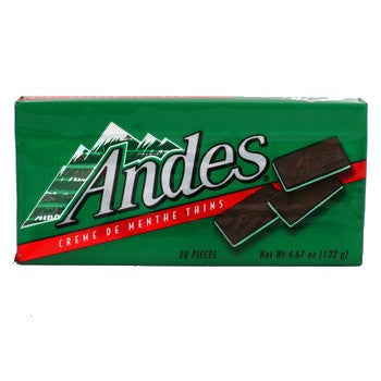 ANDES CREME DE MENTHE THINS BOX
