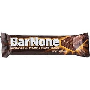 barNone Candy bar chocolate wafers, pure milk chocolate, peanuts