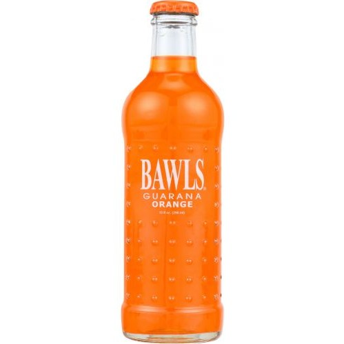 bawls orange glass bottle soda
