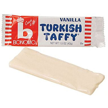bonomo vanilla flavored Turkish taffy