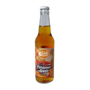 Boots Carmel Apple flavored glass bottle soda