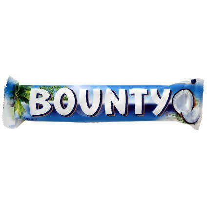 Bounty Bar creamy coconut filling covered in milk chocolate