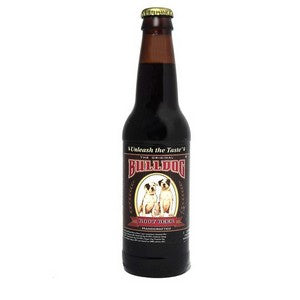 Bulldog Root Beer glass bottle soda