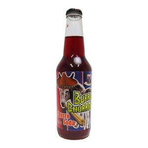 Burros Churros glass bottle soda
