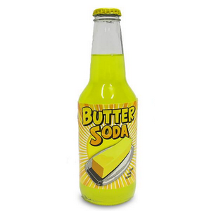 Butter flavored glass bottle soda