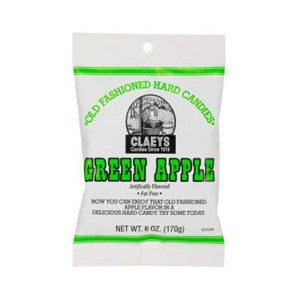 Claeys Green Apple Sugared Hard Candy