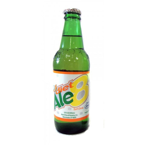Ale 8 1 - Diet Glass Bottle Soda
