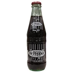 Dr. Pepper Real Cane Sugar glass bottle soda