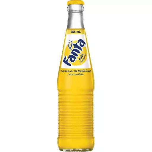 Fanta Pineapple Glass Bottle