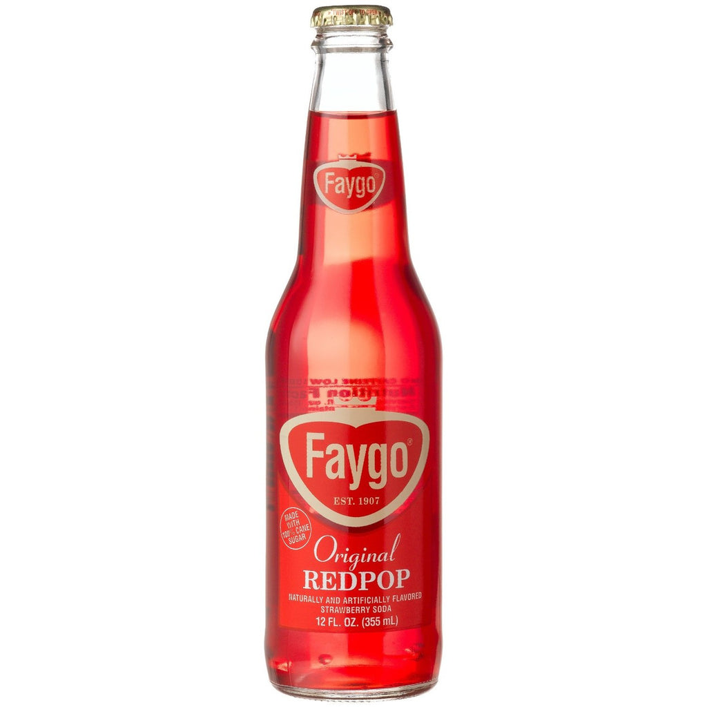 Faygo Red Pop Glass Bottle Soda