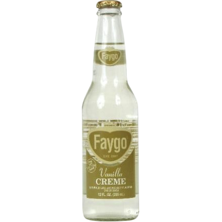 Faygo Vanilla Cream Soda Glass Bottle