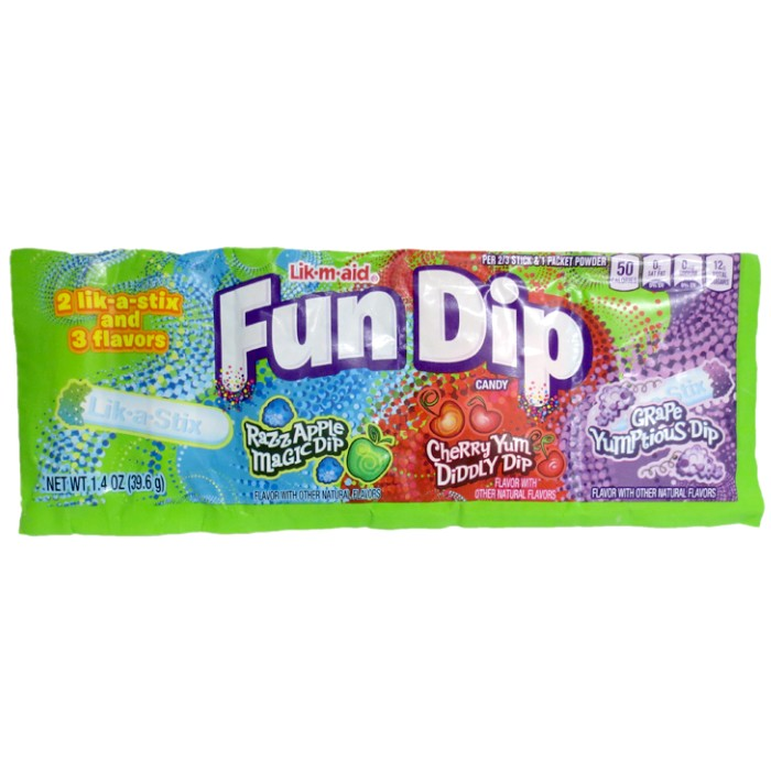 Lik m Aid Fun Dip flavored Powdered Candy