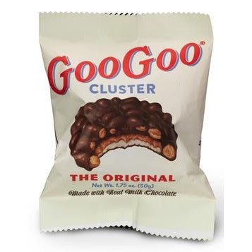Goo Goo Cluster  Original chocolate covered peanuts and rich nougart
