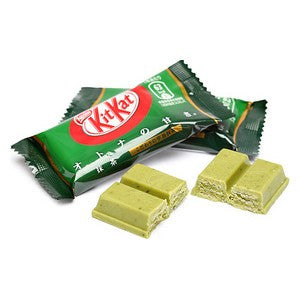 Green Tea flavored mini Kit Kat bars