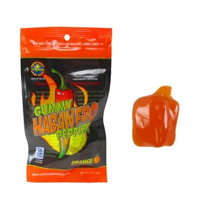 Orange flavored Gummy  Habanero Pepper Candy