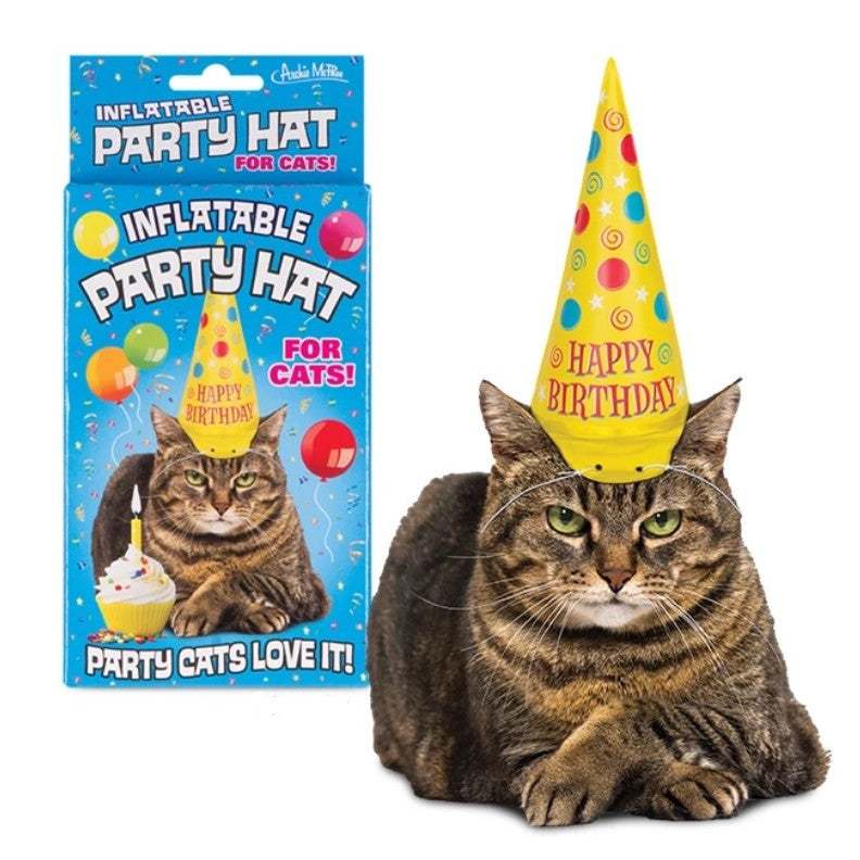 Inflatable Party hats for cats