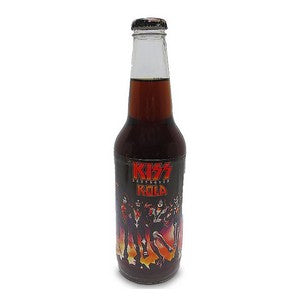 Kiss Army Destroyer Cola glass bottle soda