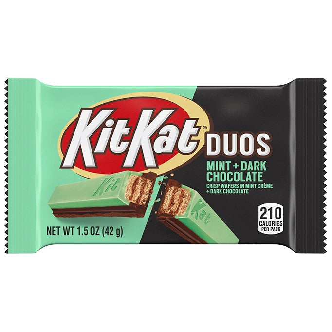 Kit Kat Duos Dark Chocolate & Mint bars
