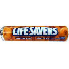 Life Savers Butter Rum flavored hard candy