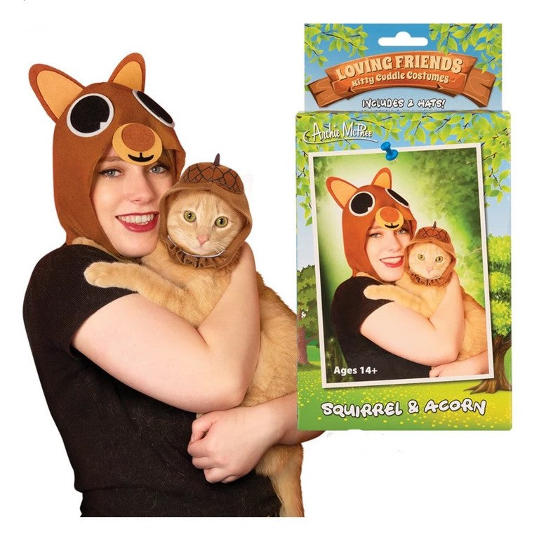 Loving friends matching cat costume