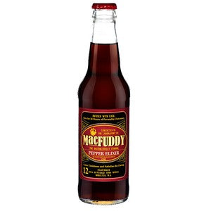 MacFuddy Pepper Elixir glass soda bottle
