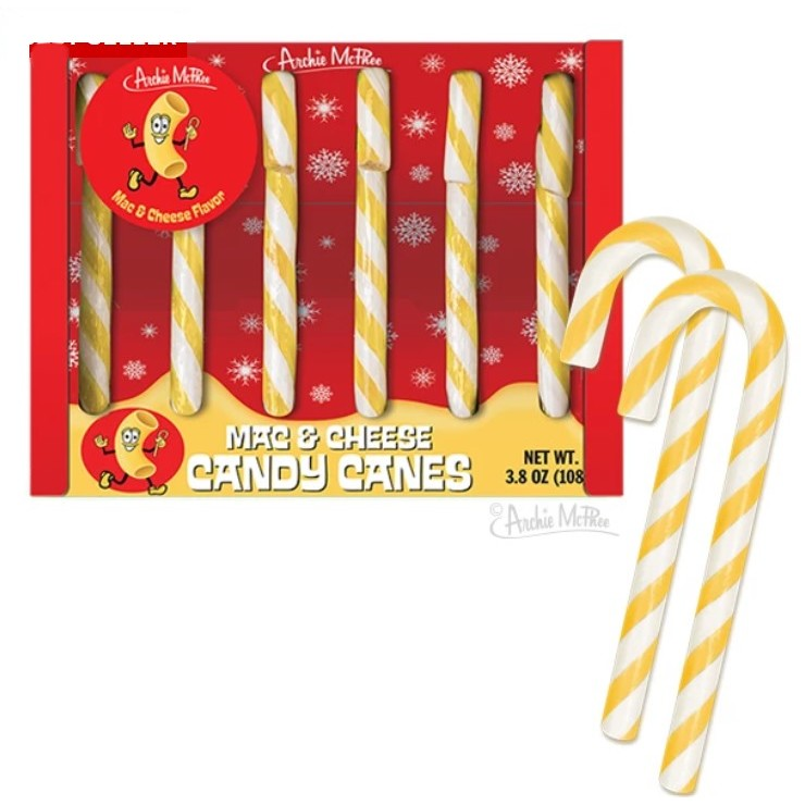 Mac & Cheese flavored candy canes