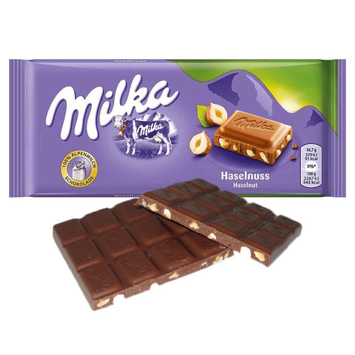 Milks Hazelnut chocolate bar