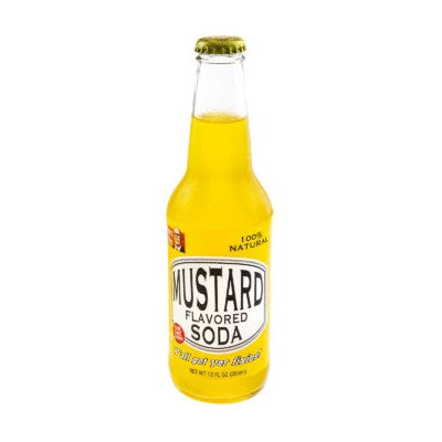 Mustard Flavored glass bottle soda