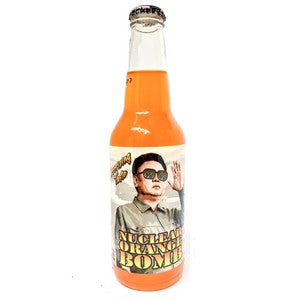 Nuclear Orange Bomb Kim Jong glass bottle soda