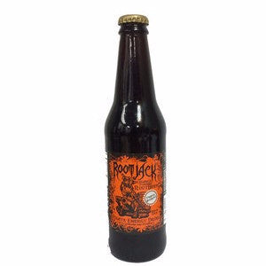 Root Jack Orange Energy Root Beer glass bottle soda