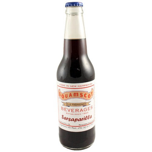 Squamscot Sarsaparilla Glass Bottle