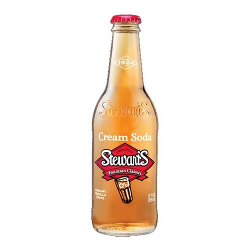 Stewarts Cream Soda Glass Bottle