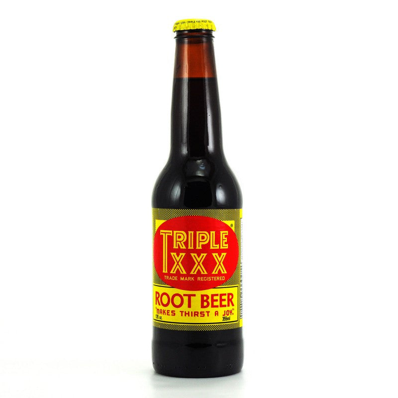 Triple XXX Root Beer Glass Bottle