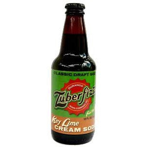 Zuberfizz -Key Lime Cream Glass Bottle Soda
